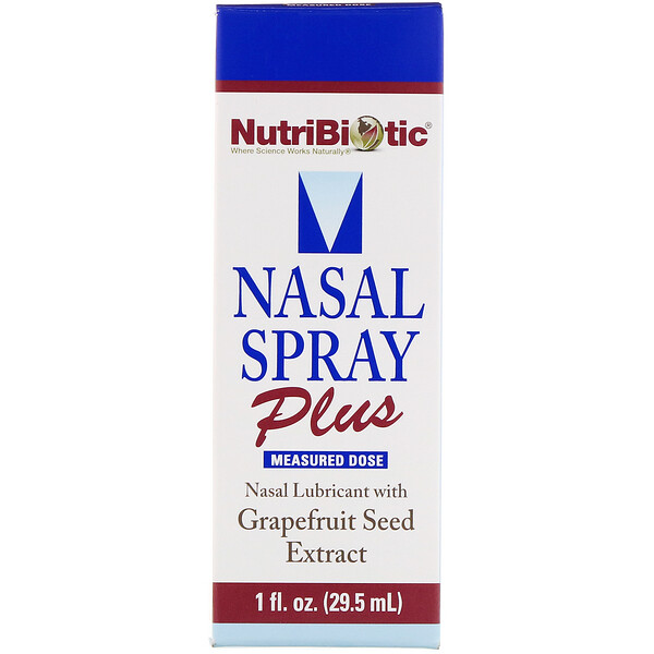 NutriBiotic, Nasal Spray Plus with Grapefruit Seed Extract, 1 fl oz (29.5 ml)