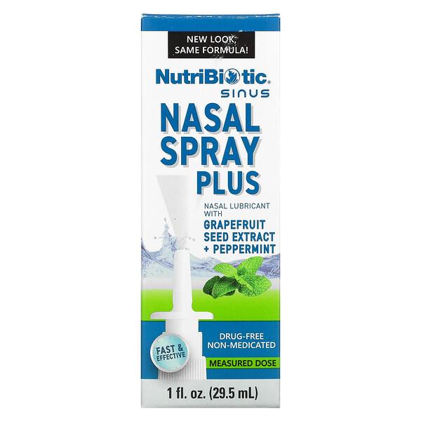 グレープフルーツシード抽出物付き鼻腔スプレープラス、1 fl oz (29.5 ml)