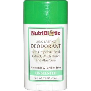 NutriBiotic, 長時間持続 デオドラント スティック、 無香料、 2.6 oz (75 g)