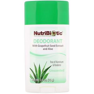 Нутрибиотик, Deodorant, Unscented, 2.6 oz (75 g) отзывы покупателей