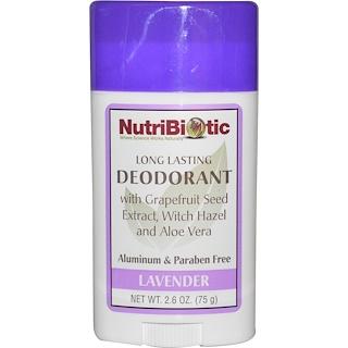 NutriBiotic, Long Lasting Deodorant Stick, Lavender, 2.6 oz (75 g)