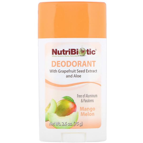 Deodorant, Mango Melon, 2.6 oz (75 g)