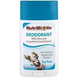 NutriBiotic, 脱臭剤, ティーツリー, 2.6 oz (75 g)