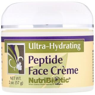 NutriBiotic, Crème aux peptides pour le visage, Ultra-hydratante, 2oz (57g)