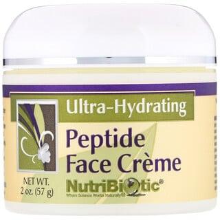 NutriBiotic, 펩타이드 얼굴 크림, 울트라-수분 공급, 2 온스 (57 g)