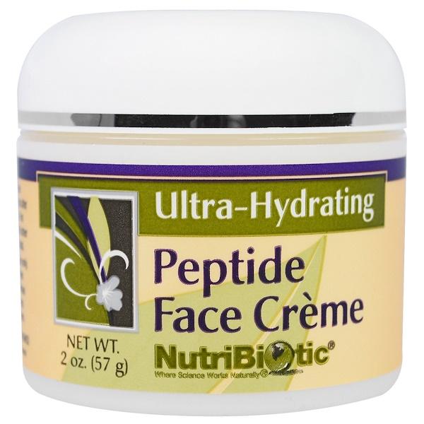 NutriBiotic, 肽面霜,超保濕,2盎司(57克)