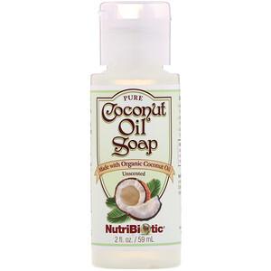 Нутрибиотик, Pure Coconut Oil Soap, Unscented, 2 fl oz (59 ml) отзывы покупателей