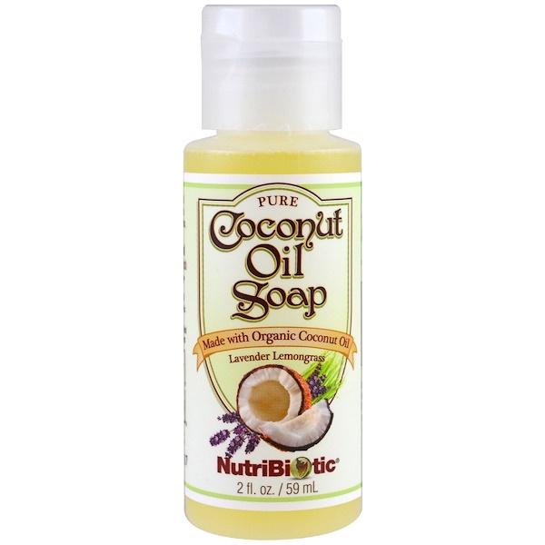 NutriBiotic, 純正椰油皂,薰衣草檸檬香草味,2 液體盎司(59 毫升)