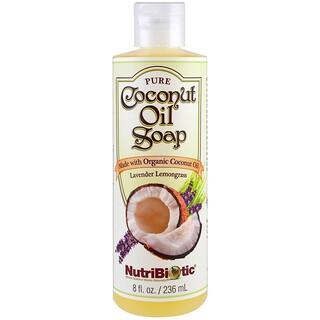 NutriBiotic, 순수 코코넛 오일 비누, 라벤더 레몬그라스, 8 fl oz (236 ml)
