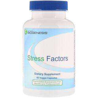 Nutra BioGenesis, Stress Factors, 60 Veggie Capsules