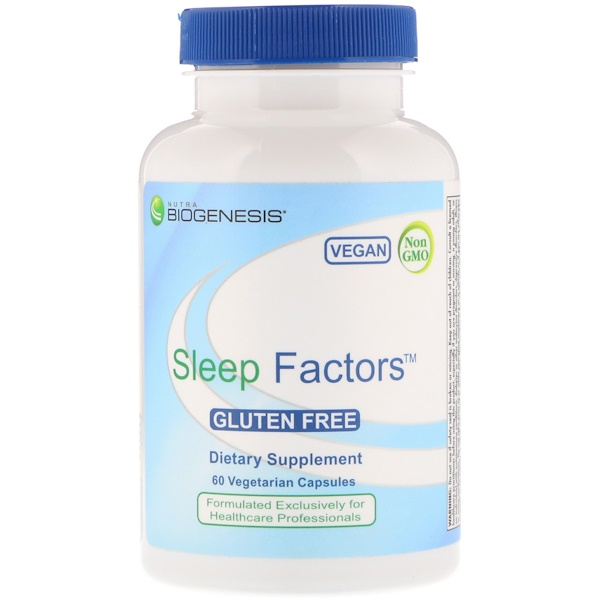Nutra BioGenesis, Sleep Factors, 60 Veggie Caps
