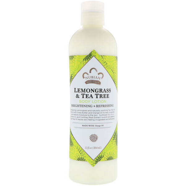 Body Lotion, Lemongrass & Tea Tree, 13 fl oz (384 ml)