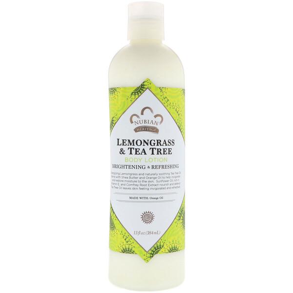 Nubian Heritage, Body Lotion, Lemongrass & Tea Tree, 13 fl oz (384 ml)