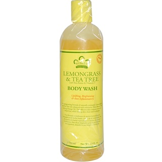 Nubian Heritage, Body Wash, Lemongrass & Tea Tree, 13 fl oz (384 ml)