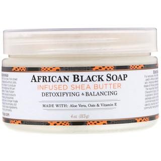 Nubian Heritage, Африканское черное мыло с маслом ши, 4 унции (113 г)