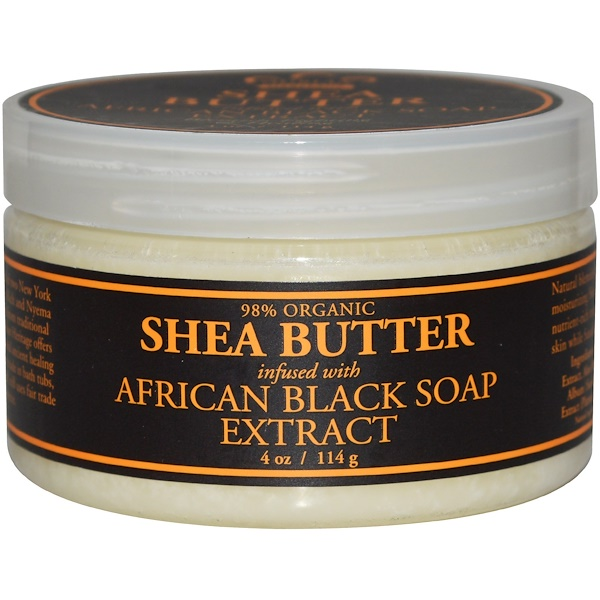 Nubian Heritage, Shea Butter, Infused with African Black Soap Extract, 4 oz (114 g)