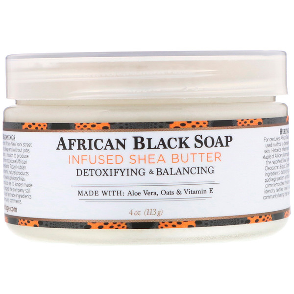 Nubian Heritage, African Black Soap Infused Shea Butter, 4 oz (113 g)