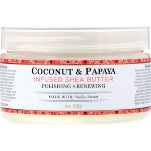 Нубиан Херитадж, Shea Butter, Infused with Coconut & Papaya, 4 oz (113 g) отзывы покупателей