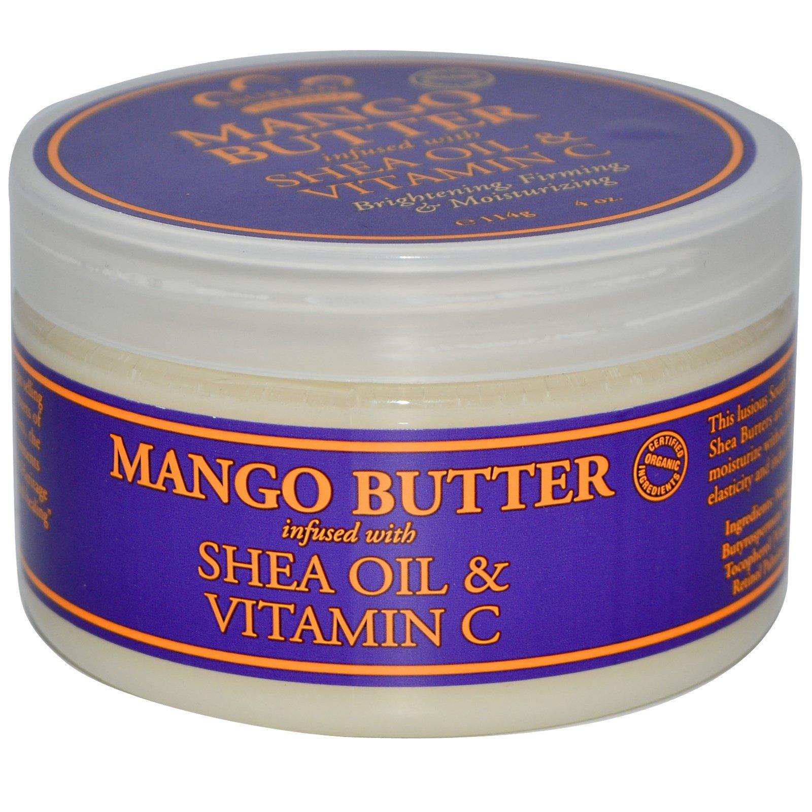 Nubian Heritage, Масло манго, обогащенное маслом ши и витамином С, 114 г