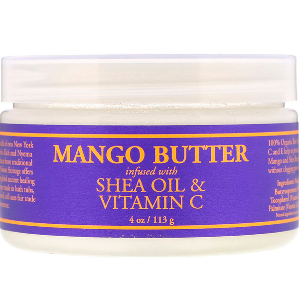 Nubian Heritage, Mango Butter Infused with Shea Oil & Vitamin C, 4 oz (113 g) (Discontinued Item)