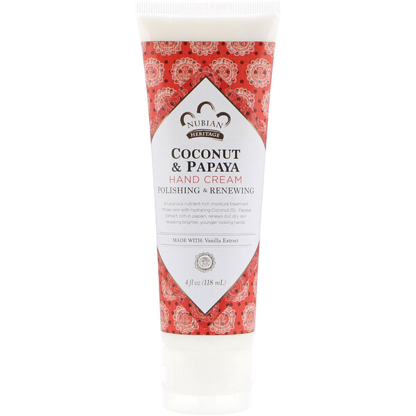 Hand Cream, Coconut & Papaya, 4 fl oz (118 ml)