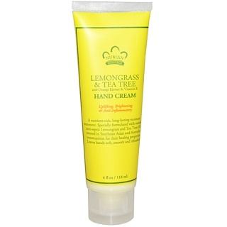Nubian Heritage, Lemongrass & Tea Tree Hand Cream, 4 fl oz (118 ml)