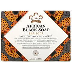 Nubian Heritage, 非洲黑塊皂,5 盎司(142 克)