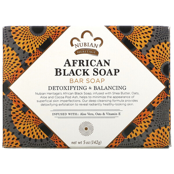 African Black Bar Soap, 5 oz (142 g)