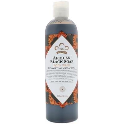 Купить Средство для мытья тела, африканское черное мыло, 384 мл