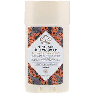 Nubian Heritage, Déodorant 24 heures, savon noir africain, 2,25 oz (64 g)