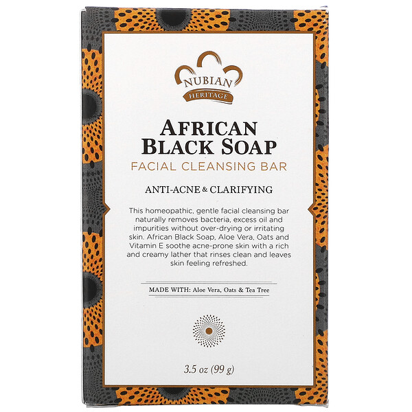 African Black Soap, Facial Cleansing Bar, 3.5 oz (99 g)
