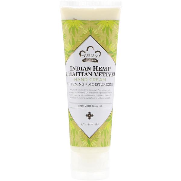 Hand Cream, Indian Hemp & Haitian Vetiver, 4 fl oz (118 ml)
