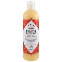 Nubian Heritage, 바디 워시, 바닐라 열매 추출액 함유 코코넛 및 파파야, 13액량 온스 (384 ml)