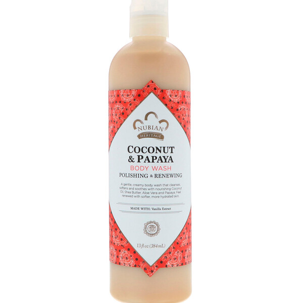 Body Wash, Coconut & Papaya, 13 fl oz (384 ml)