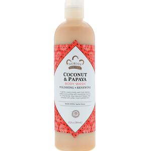 Нубиан Херитадж, Body Wash, Coconut & Papaya, 13 fl oz (384 ml) отзывы покупателей