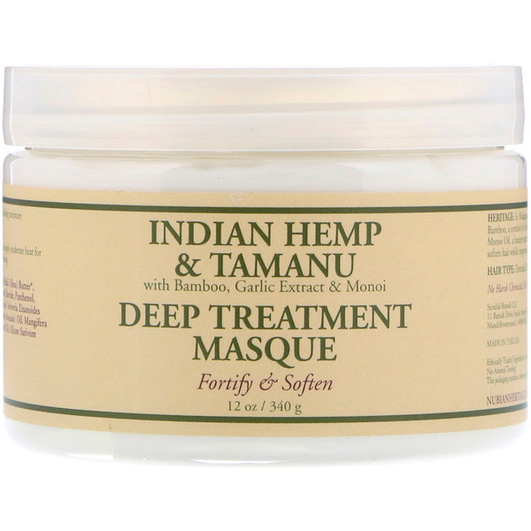 Nubian Heritage, Deep Treatment Masque, Indian Hemp & Tamanu, 12 oz (340 g) (Discontinued Item)