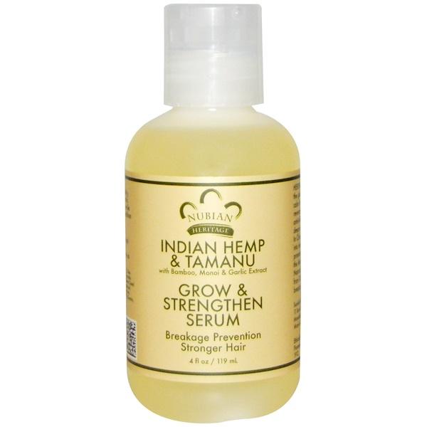 Nubian Heritage, Сыворотка для усиления роста и восстановления волос с маслами индийской конопли и таману, 4 жидких унции (119 мл) (Discontinued Item)