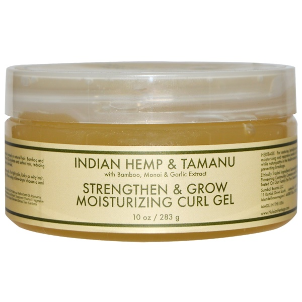 Nubian Heritage, Strengthen & Grow Moisturizing Curl Gel, Indian Hemp & Tamanu, 10 oz (283 g) (Discontinued Item)