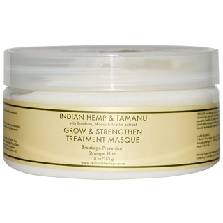 Nubian Heritage, Grow & Strengthen Treatment Masque, Indian Hemp & Tamanu, 10 oz (283 g)
