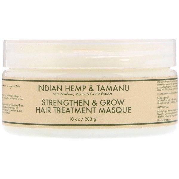 Nubian Heritage, Strengthen & Grow Hair Treatment Masque, Indian Hemp & Tamanu, 10 oz (283 g)