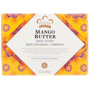 Нубиан Херитадж, Mango Butter Bar Soap, 5 oz (142 g) отзывы покупателей