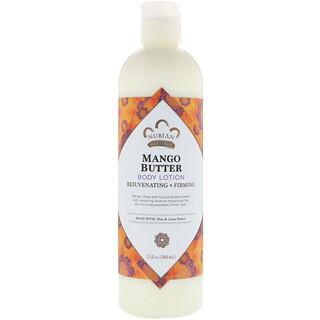 Nubian Heritage, Lait corporel au beurre de mangue, rajeunissant et raffermissant, 384 ml (13 oz liq.)