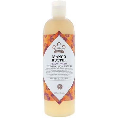 Купить Nubian Heritage Гель для душа, масло манго, 13 жидких унций (384 мл)
