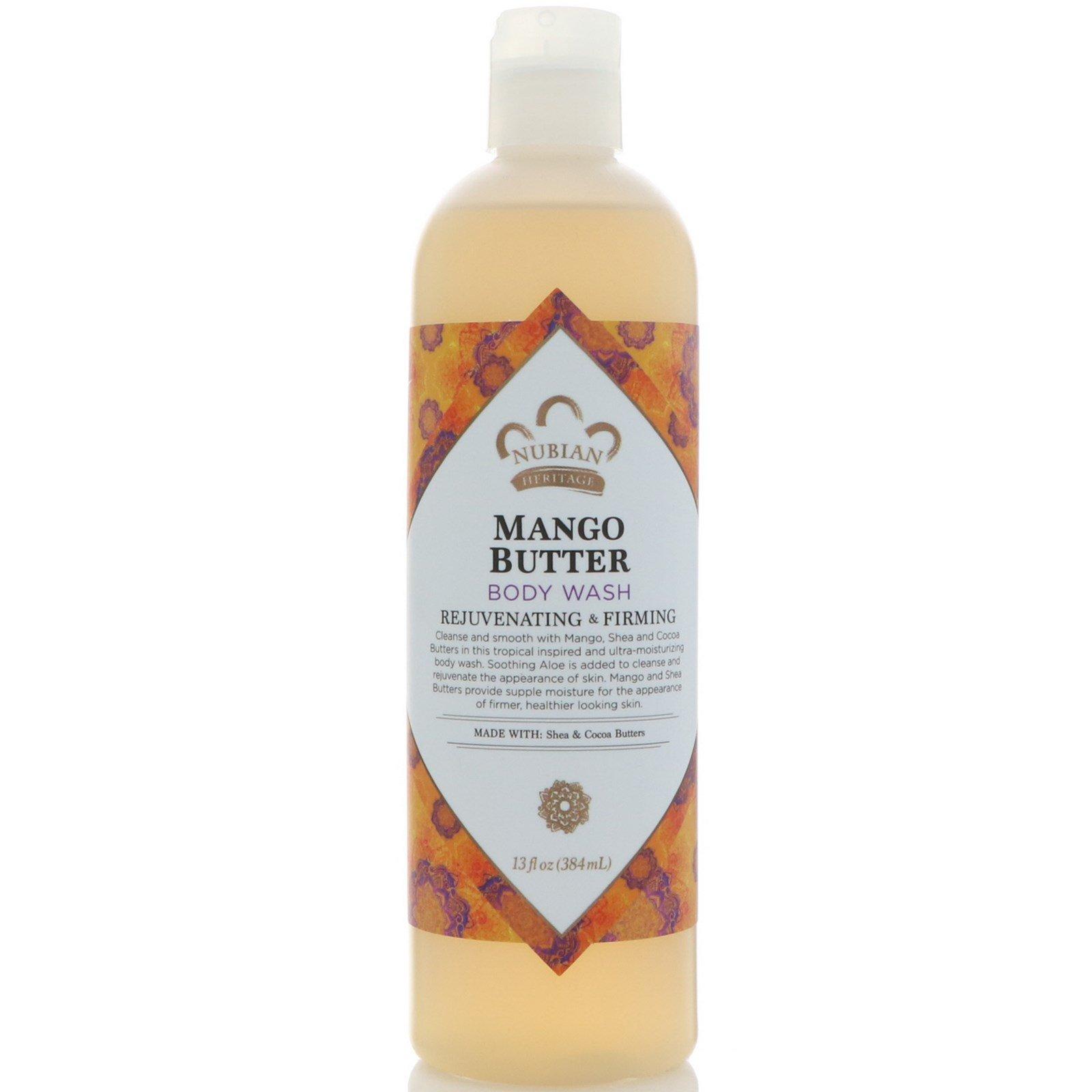 Nubian Heritage, Гель для душа, масло манго, 13 жидких унций (384 мл)