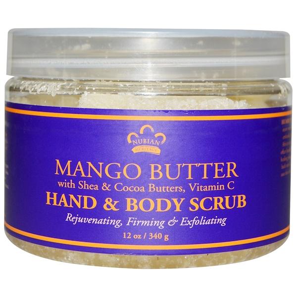 Nubian Heritage, Hand & Body Scrub, Mango Butter, 12 oz (340 g)