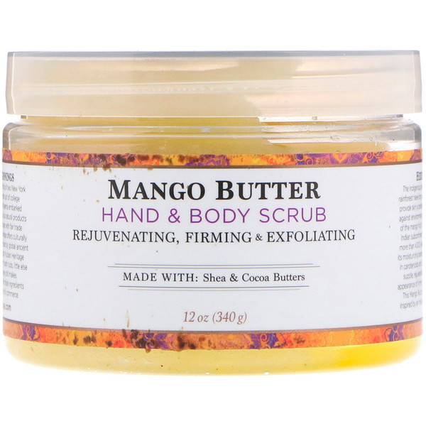 Hand & Body Scrub, Mango Butter, 12 oz (340 g)