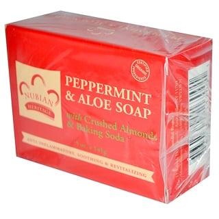 Nubian Heritage, 薄荷蘆薈皂, 5 oz (141 g)