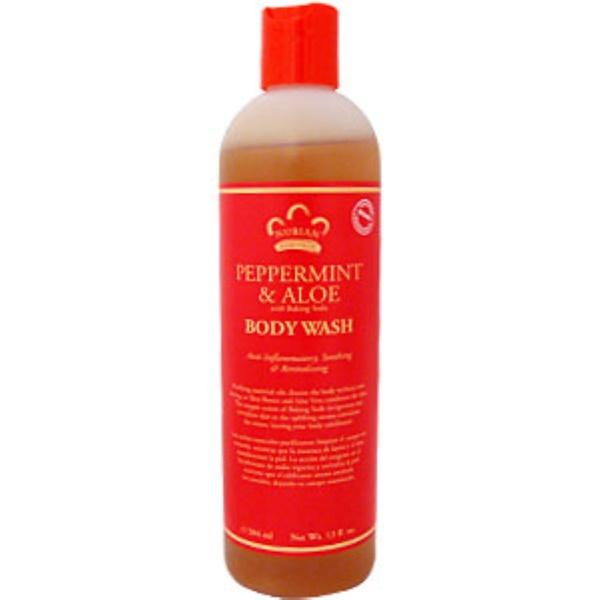 Nubian Heritage, Body Wash, Peppermint & Aloe, 13 fl oz (384 ml) (Discontinued Item)
