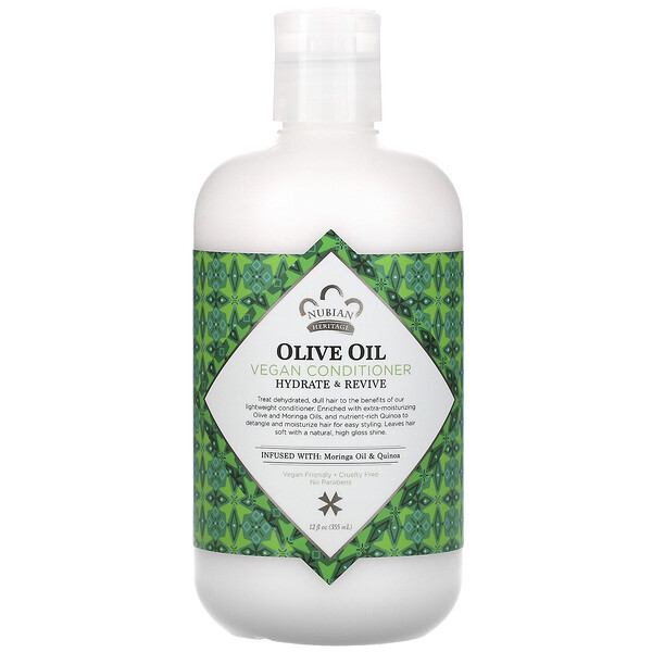 Vegan Conditioner, Olive Oil, 12 fl oz (355 ml)