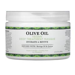 Nubian Heritage, 橄欖油,純素食深層護理面膜,12 盎司(340 克)